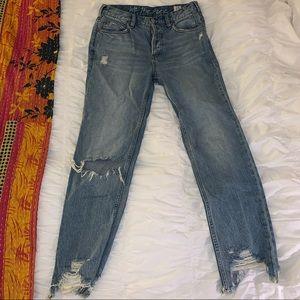 Free People Mid-Rise Straight Leg Jean